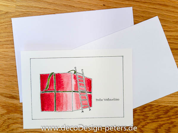 """Weihnachtskarte """"Groß(artig)e Weihnachten"""" (c)decoDesign-peters"""