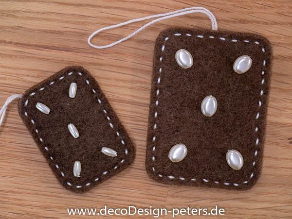 """Weihnachtlicher Anhänger """"Lebkuchen"""" (c)decoDesign-peters"""