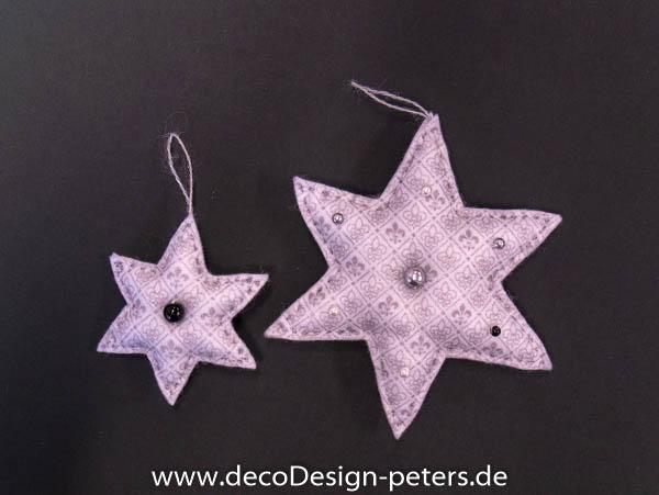 """Weihnachtlicher Anhänger """"Stern"""" (c)decoDesign-peters"""