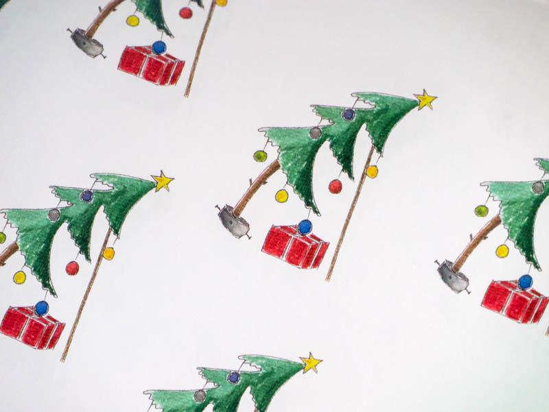 Geschenkpapier Schiefer Weihnachsbaum (c)decoDesign-peters