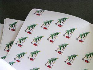 Geschenkpapier Schiefer Weihnachtsbaum (c)decoDesign-peters.de