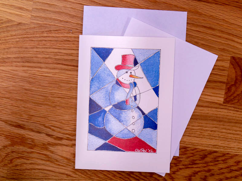 Weihnachtskarte Schneemann (c)DesoDesign-peters