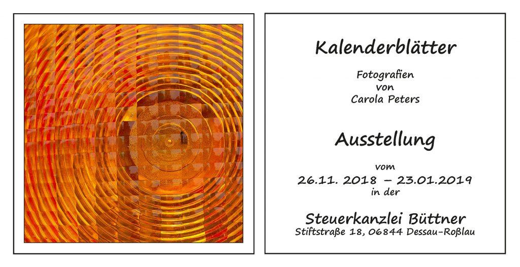 Einladung zur Ausstellung im Steuerbüro Büttner in Dessau