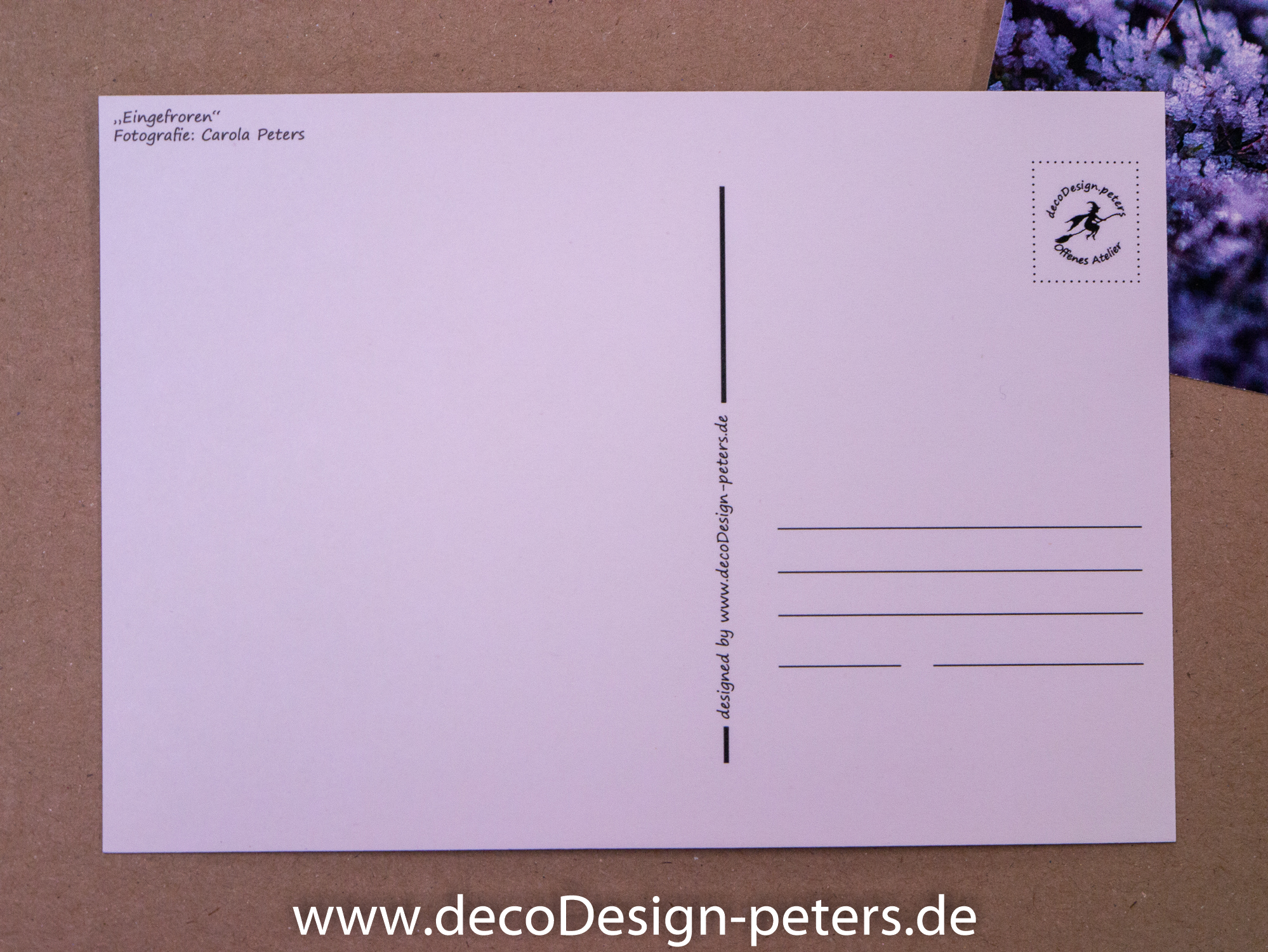 Postkarte Rückseite (c)decoDesign-peters.de