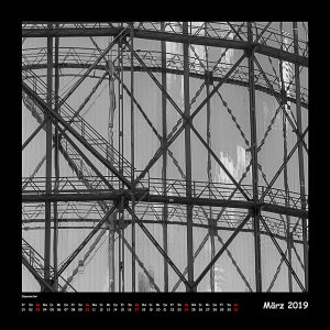 Kalender BlackAndWhite 2019 - 03_März (c)decoDesign-peters