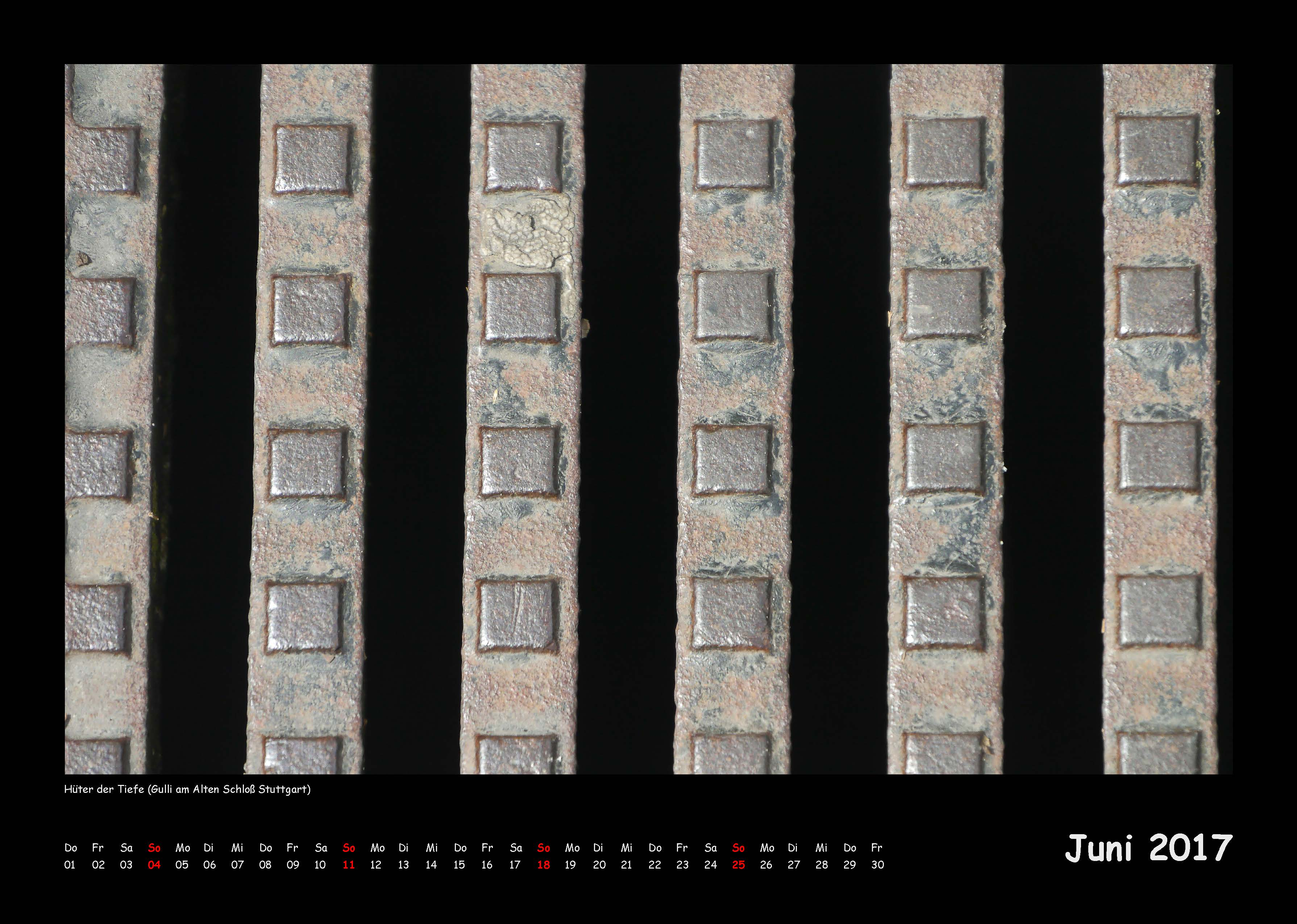 Kalender Außer der Reihe 2017 - Juni (c)decoDesign-peters