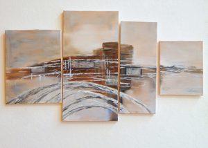 Skyline - Gemälde von Margot Braun